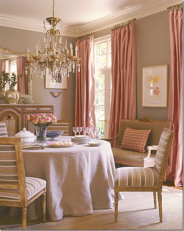 Image Antique French Louis XVI Chairs With A Contemporary Stripe In Suzanne Kaslers Former Dining Room