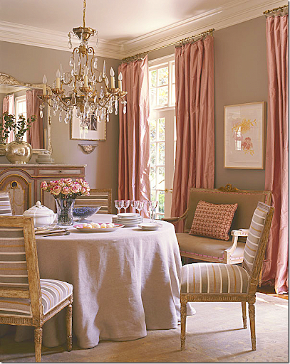 Antique French Louis XVI Chairs With A Contemporary Stripe In Suzanne  Kasleru0027s Former Dining Room. So Beautiful!