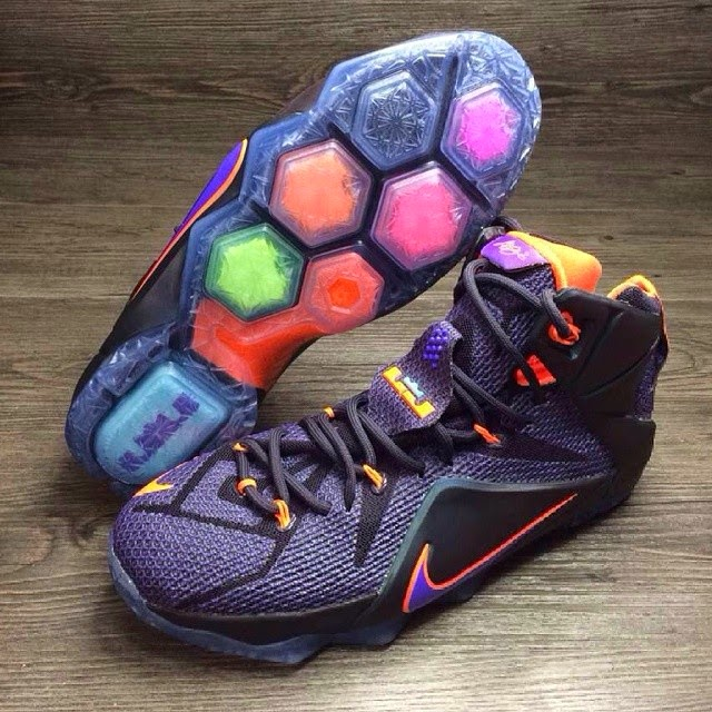 e26c2164f202 Another Look at the Nike LeBron 12 in Purple and Orange