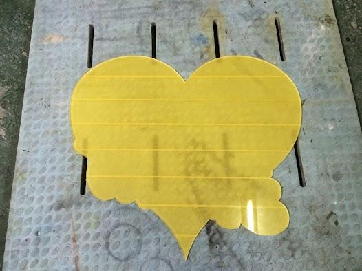 image - カスタムペイント工程 ピンストライプのベースボード