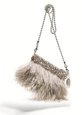 COACH Feather Ostrich clutch