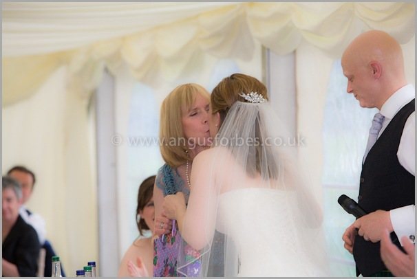 bride and mother Wedding photographer at dollar academy, angus forbes