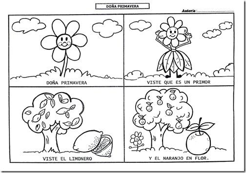 Colorear Dibujos Infantiles Primavera Para Niños Poesías Y Dibujos