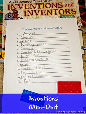 Critical Thinking and Writing Activity for Kids - Inventions