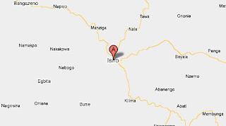 Carte de Isiro en Province Orientale
