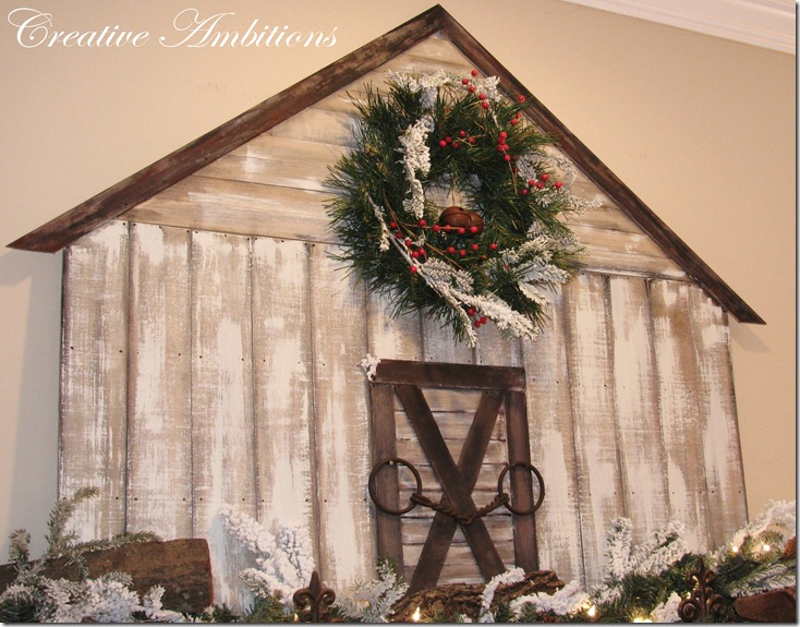 Christmas Barn Mantel