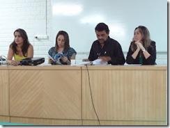 Da esquerda para a direita, Vanessa Carvalho, Welliana Benevides, João Neto e Gerlandia Joca