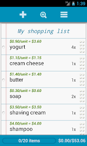 Grocery List screenshot 1