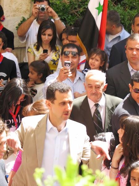 Imagini Siria: Bashar el-Assad, presedintele Siriei