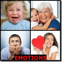 EMOTIONS- 4 Pics 1 Word Answers 3 Letters
