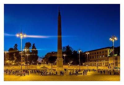 Rom: Geocaching über Silvester - Piazza del Popolo: Obelisk