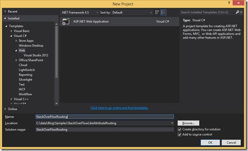 StackOverFlowroutingprojectaspnetmvc