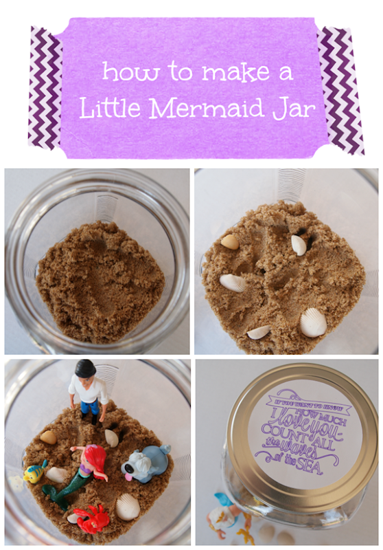 how to make a little mermaid jar #shop #disney #cbias