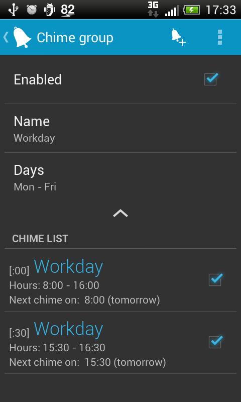Hourly chime PRO - screenshot