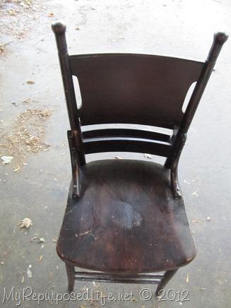 antique pew chair restoration