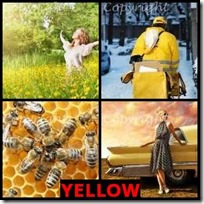 YELLOW- 4 Pics 1 Word Answers 3 Letters