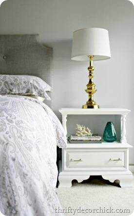 80 s nightstand redo from thrifty decor chick