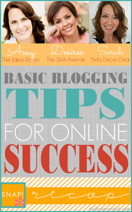 basic blogging tips @ thriftydecorchick.com