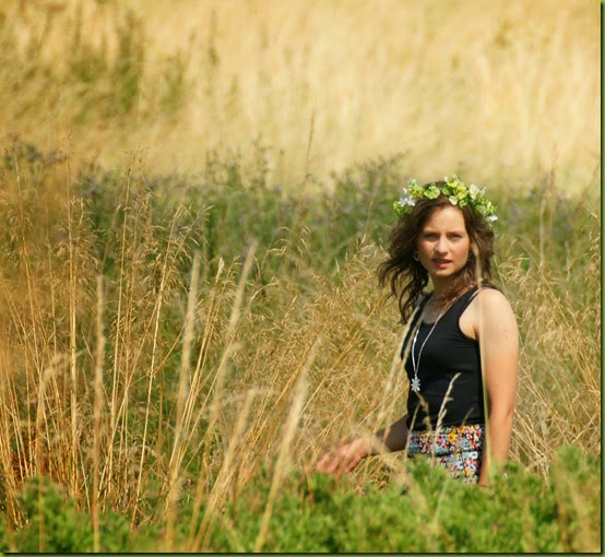 summer wild child in long grass