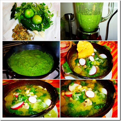 Green Pozole Soup Guerrero Style | Instructions step by step