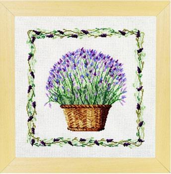 Free Cross Stitch Patterns Lavender Basket