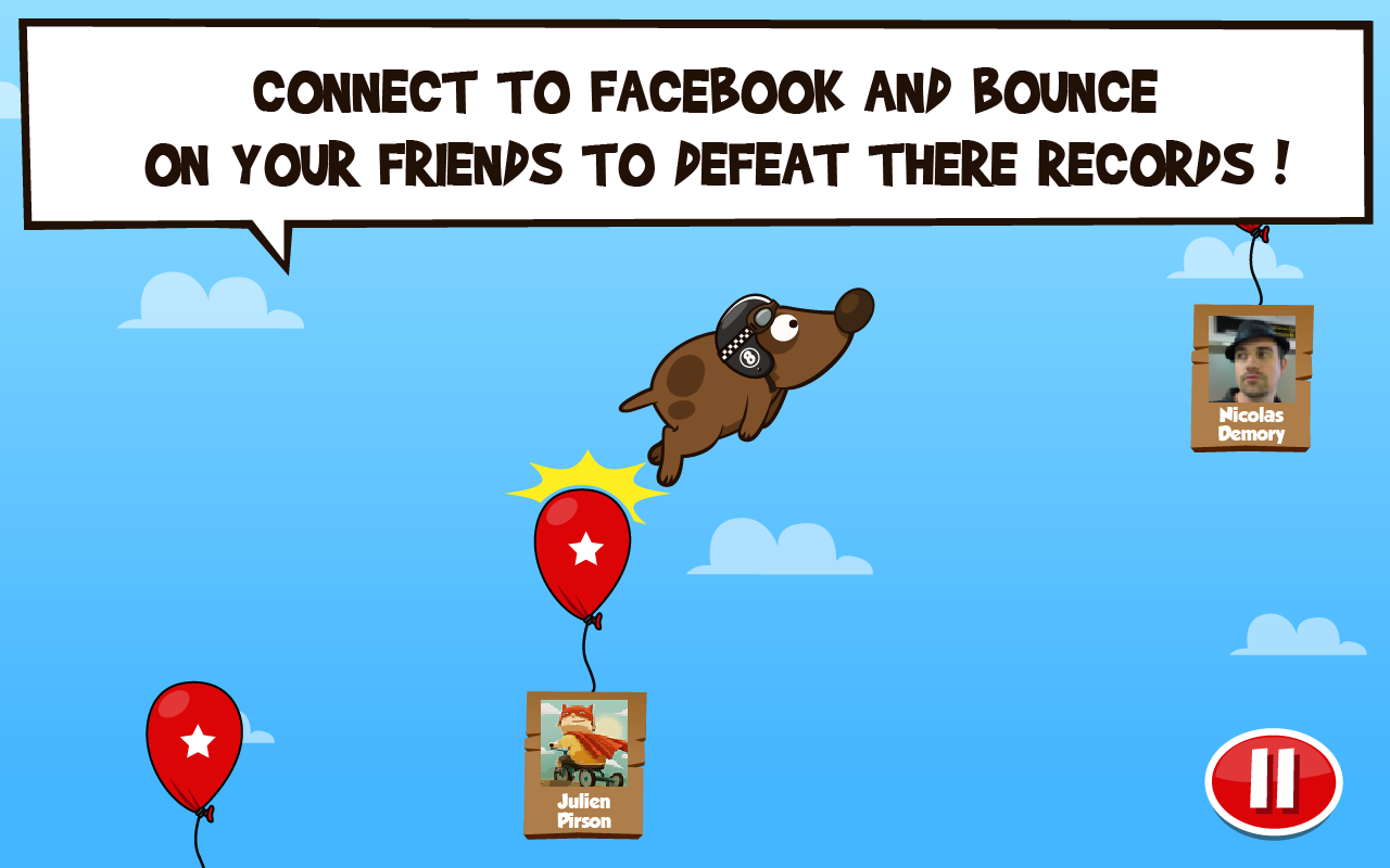 Space Dog + | Facebook Game - screenshot