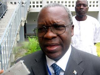 Lazare Dakahudyno Wakale Minada, coordonnateur de la cellule d'exécution du projet de transport multimodal, un projet financé par la Banque mondiale, ancien directeur général du bureau d'études et ministre honoraire des Transports de la RDC.