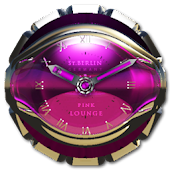 Pink Lounge Clock Widget