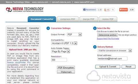 Neevia Document Converter