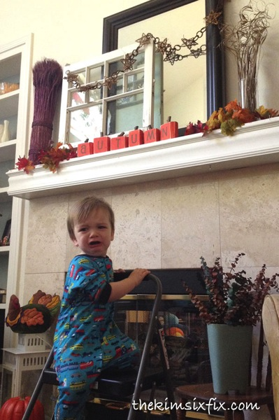 Baby with mantel