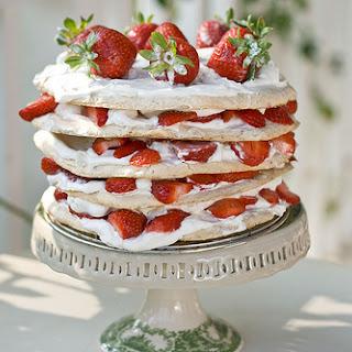 Swedish Midsummer Strawberry Meringue Layer Cake.