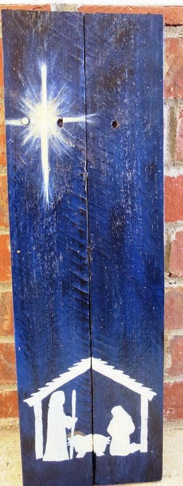 Presépios criativos - presépio de tábuas de madeira