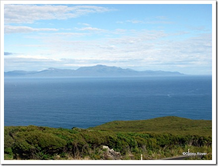 Stewart Island seen from Bluff Hill.