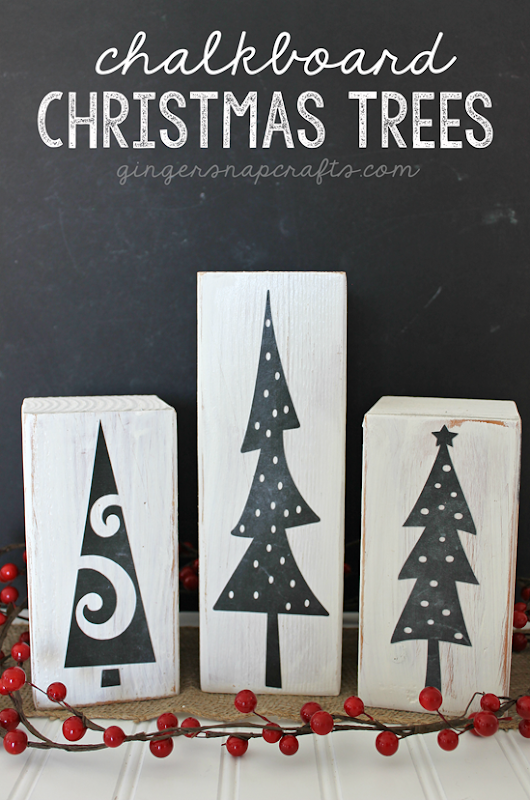 Chalkboard Christmas Trees by GingerSnapCrafts.com