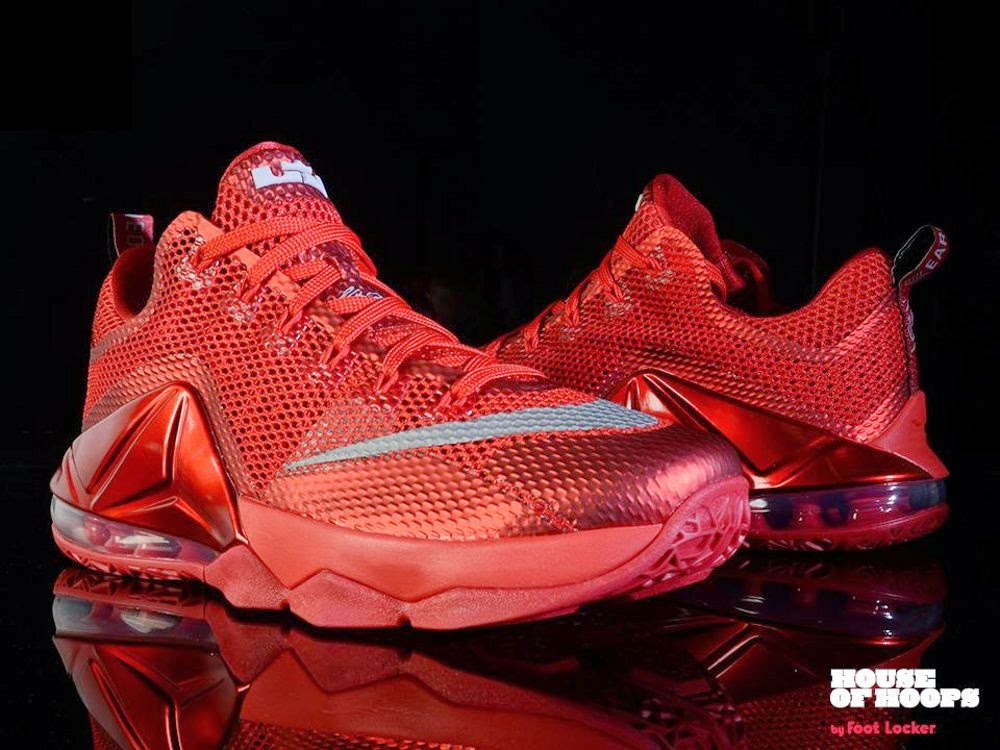 85baf5c69f8b6 The All Red Nike LeBron 12 Low is Hitting More Stores