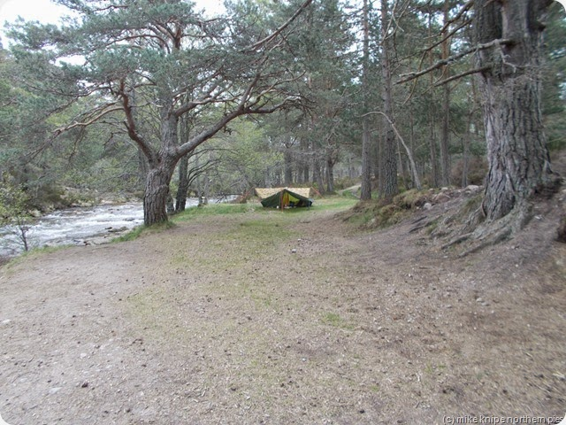 camp at cairngorm club footbridge
