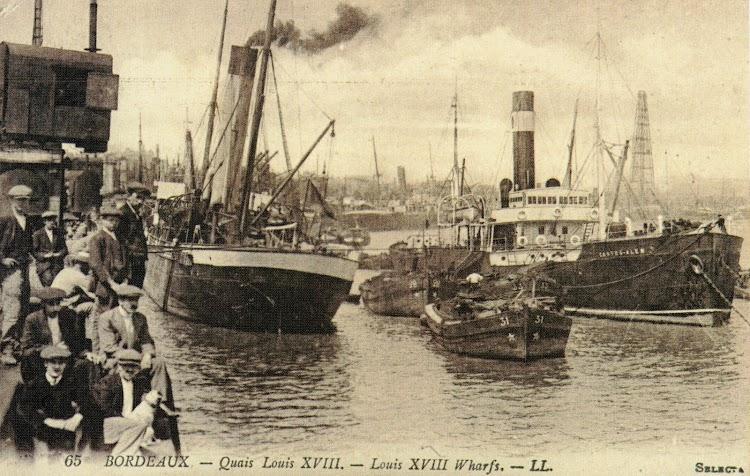 El vapor CASTRO-ALEN en Bordeaux. Postal. Foto de Lucien Levy. C. 1903. Del libro Barcos, Barcos y Barcos. Colección Jose Maria Armero.jpg