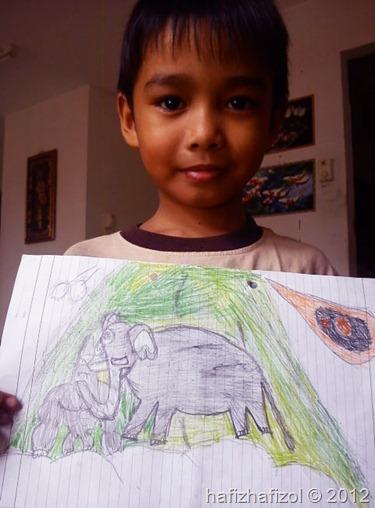 lukisan budak kecil