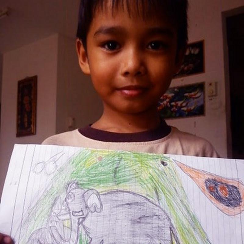 Hasil Lukisan Budak Darjah Satu yang Cantik