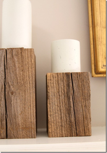 DIY Rustic Candle Stands- Easy decor project with only one supply!