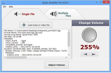 Audio Amplifier and Normalizer Software