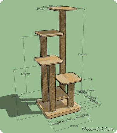 Meow Cat Com How To Make A Cat Tree With Solid Wood