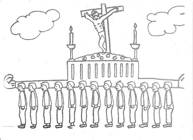Dibujos Colorear Semana Santa Infantil: SEMANA SANTA DIBUJOS PARA COLOREAR