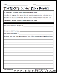 The Rock Brothers' Story Project - free from Raki's Rad Resources