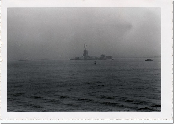 Statue of Liberty view from the S.S. Brazil July 1952