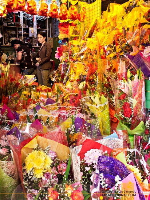 Swimming with Flowers at Dangwa Flower Market in Manila