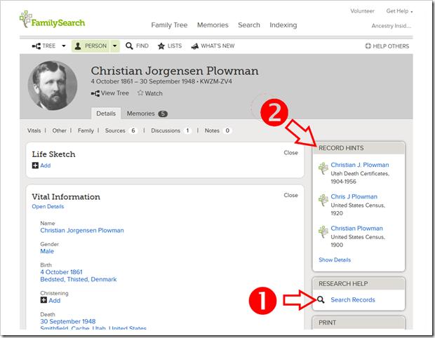 从人员页面中可以:1。启动该人的历史记录和2.检查记录提示。