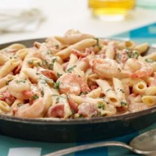 Penne with Prawns and Herbed Cream Sauce Recipe