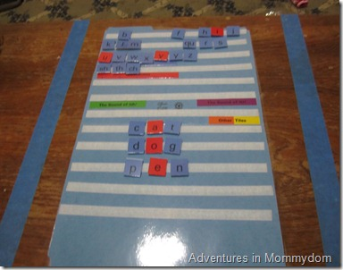 mow to make a spelling board for All About Spelling