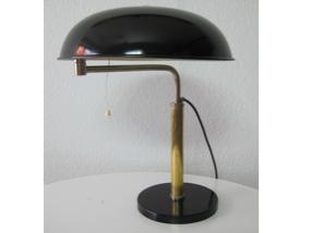 schwarze schreibtisch leuchte lampe m ller belmag 30er jahre schweiz. Black Bedroom Furniture Sets. Home Design Ideas